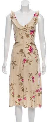 Philosophy di Alberta Ferretti Floral Midi Dress w/ Tags