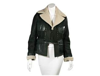 DSQUARED2 Green Leather Jackets