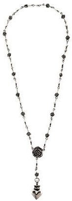 King Baby Studio Floral Rosary Lariat Necklace $495 thestylecure.com