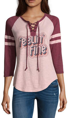 Freeze Feelin Fine Lace Up Baseball Tee - Junior