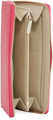 Smythson Saffiano Leather Travel Wallet, Fuchsia