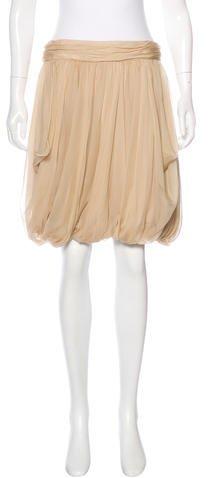 Ralph Lauren Silk Gathered Skirt w/ Tags