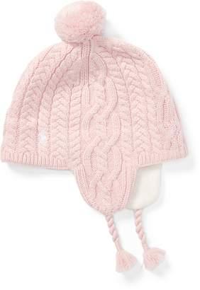 af872ba249e ... Ralph Lauren Aran-Knit Earflap Hat