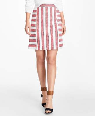 Striped Boucle Skirt $78 thestylecure.com