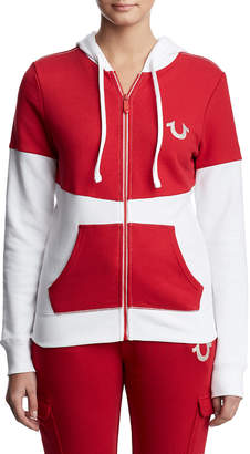 True Religion COLORBLOCK ZIP UP HOODIE