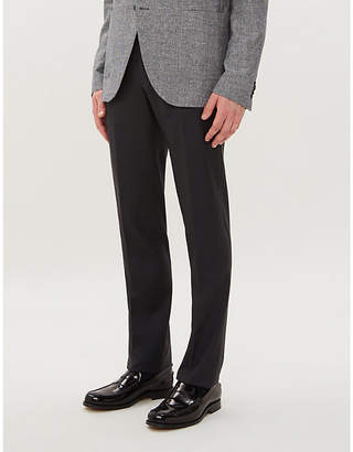 Corneliani Slim-fit tapered wool trousers