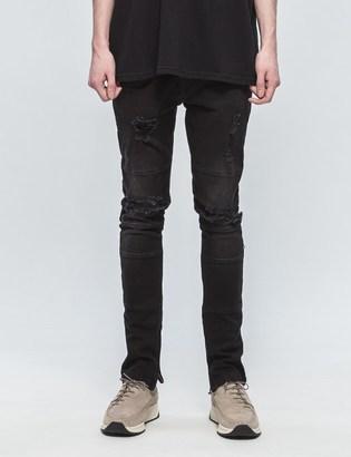 N.D.G. STUDIO Ripped Biker Denim Jeans $240 thestylecure.com
