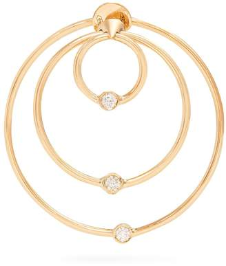Delfina Delettrez Diamond & yellow-gold hoop single earring