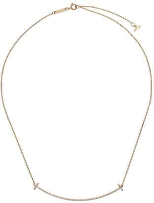 Tiffany & Co. ティファニー T スマイル ダイヤモンド ネックレス 18Kイエローゴールド