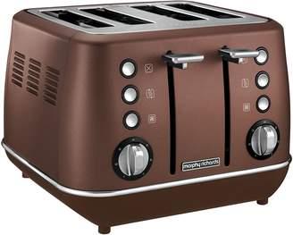 Morphy Richards Evoke Accents 4-Slice Toaster, Bronze LP1