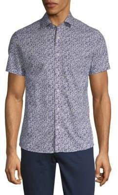 Slate & Stone Printed Short-Sleeve Cotton Button-Down Shirt