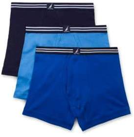 Nautica Striped Boxer Briefs- Set of Three