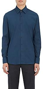 Prada Men's Cotton-Blend Poplin Shirt - Blue