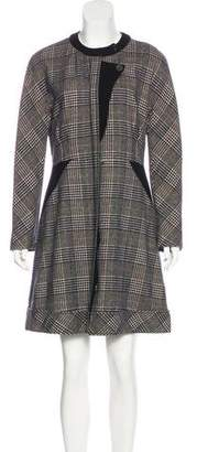 Derek Lam Plaid Wool-Blend Dress