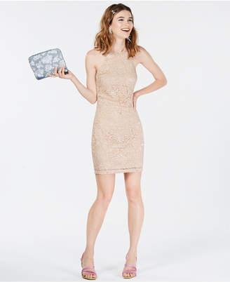 BCX Juniors' Glitter-Embellished Lace Dress