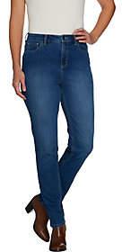 Denim & Co. Regular 5-Pocket Slim Straight LegJeans