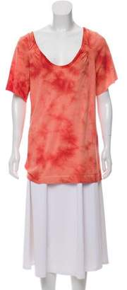 Chloé Printed Short Sleeve Top