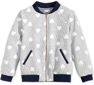 Monteau Quilted Heart Bomber Jacket, Big Girls (7-16) $46 thestylecure.com