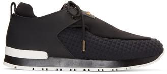 Balmain Black Doda Sneakers $880 thestylecure.com