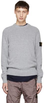 Stone Island Grey Knit Sweater