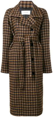 Lemaire check belted coat