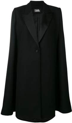Karl Lagerfeld button tailored cape