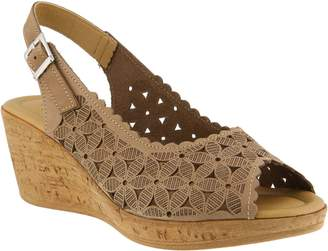 Spring Step Leather and Nubuck Sandals - Malana