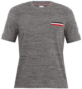Moncler Gamme Bleu Patch Pocket Cotton T Shirt - Mens - Dark Grey