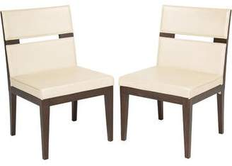 Pair of Moura Starr Leather Dining Chairs