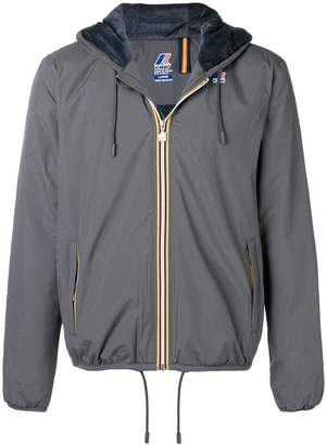K-Way zipped hooded jacket