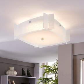 Glas-Deckenlampe Edvic mit LEDs