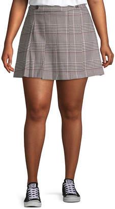 Arizona Womens Short Pleated Skirt Juniors Plus