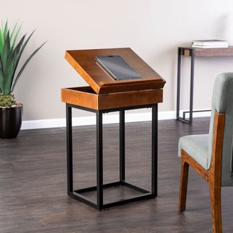 Mid-Century MODERN Southern Enterprises Holly & Martin Cayson Storage Lift-Top Side Table - Midcentury Modern Style - Dark Tobacco