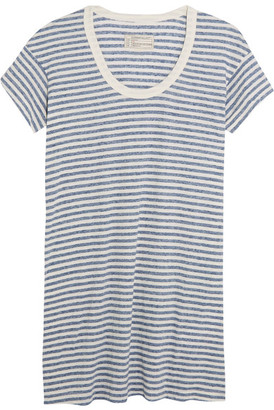 Current/Elliott - The Slouchy Striped Jersey Mini Dress - Sky blue $150 thestylecure.com