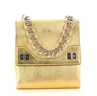 Prada Gold Leather Handbag