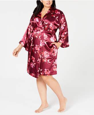 Thalia Sodi Plus Size Floral-Print Wrap Robe
