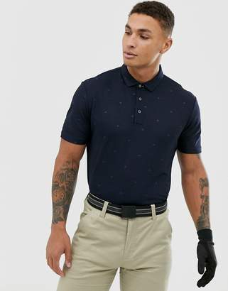 Calvin Klein Golf monogram logo polo in navy