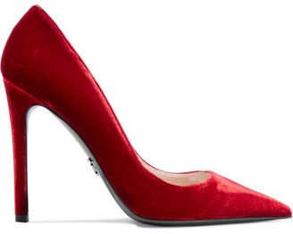Prada - Velvet Pumps - Red $670 thestylecure.com