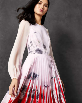 Ted Baker PRTICHA Lake of Dreams pleated dress