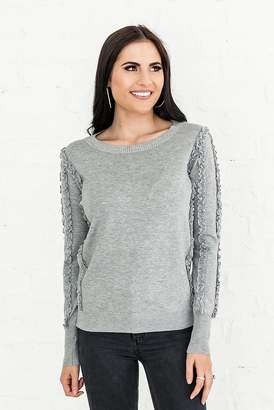 Rachel Parcell Rachel Parcell, Inc.Rachel Parcell Fall Days Sweater in Gray