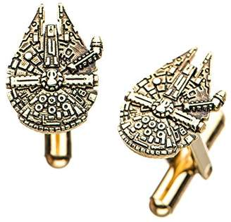 Star Wars Jewelry Men's Episode 8 Stainless Steel Plated Millenium Falcon Cuff Link