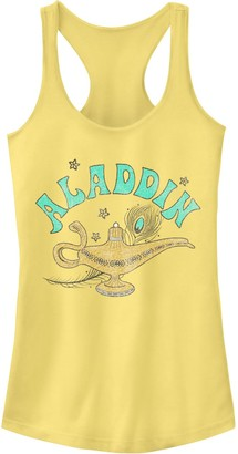 Licensed Character Juniors' Disney's Aladdin Genie Lamp Pattern Fill Tank Top
