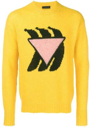 Prada banana intarsia knit sweater