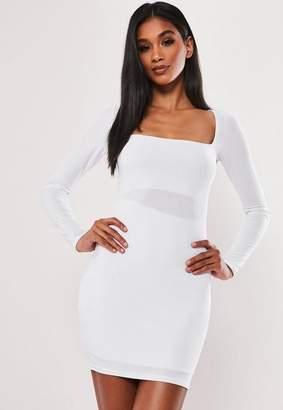 0ada501f7d53 Missguided White Double Layer Slinky Bodycon Mini Dress, White