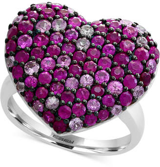 Effy Ruby (1-1/2 ct. t.w.) & Pink Sapphire (1 ct. t.w.) Heart Ring in Sterling Silver