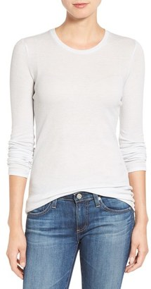 Women's Ag Logan Ribbed Cotton Cashmere Tee $188 thestylecure.com