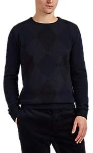 Boglioli Men's Argyle Virgin Wool-Blend Sweater - Navy