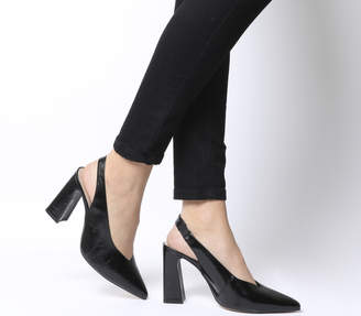 Office Hihi Slingback Point Heels