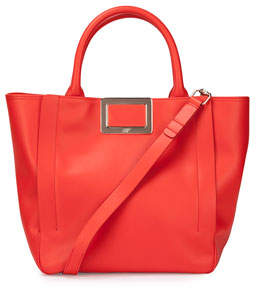 Roger Vivier Ines Small Shopping Bag, Coral