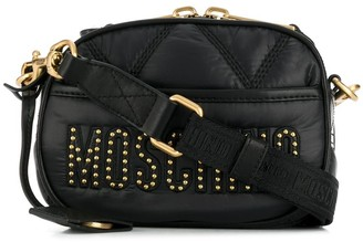 Moschino studded logo crossbody bag